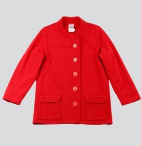 Veste caban rouge en coton de chez sugar
