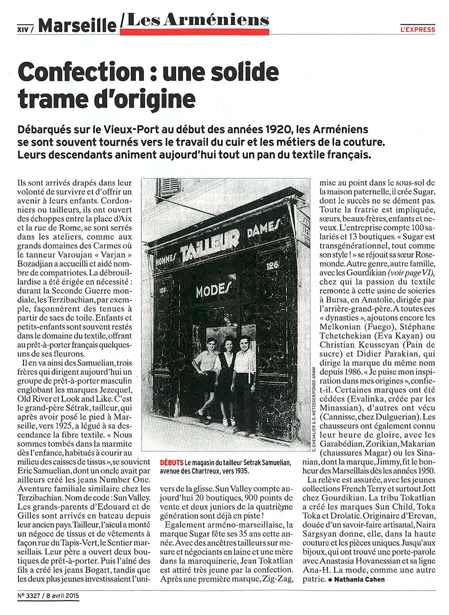 Express dossier arménien Marseille