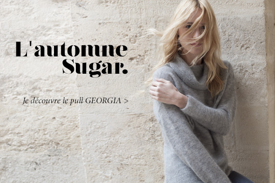 Georgia, pull col roulé bénitier Sugar