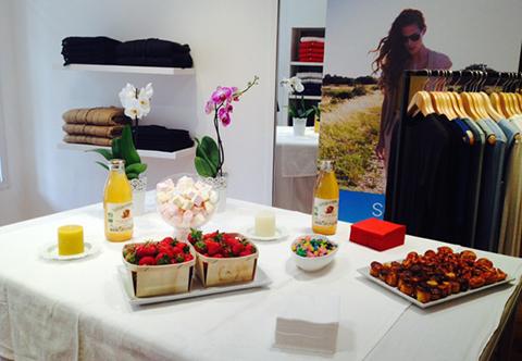 Au magasin Sugar sur Avignon : fraises bio d'Aubignan, guimauve et jus de fruits frais