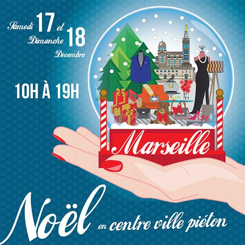 Animation de Noël au centre-ville de Marseille et chez Sugar