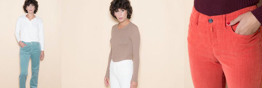 pantalon femme velours