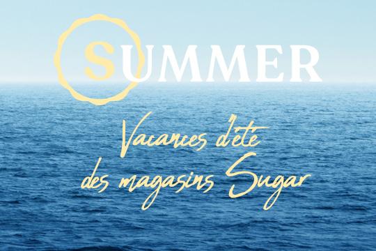 vacances d'été des magasins sugar